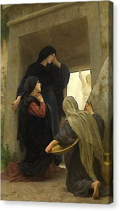 Religious Art Canvas Print - The Holy Women At The Tomb by William Bouguereau