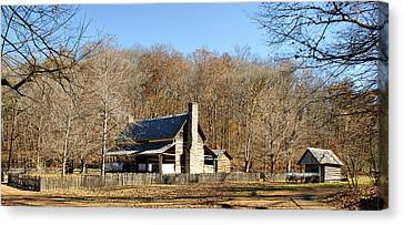 The Homeplace - Main House Canvas Print by Sandy Keeton