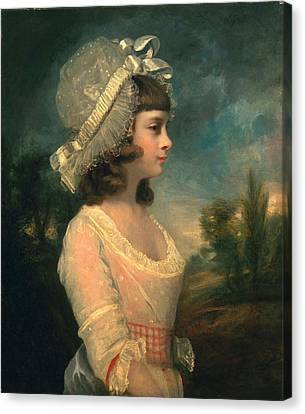 The Hon. Theresa Parker, Later The Hon Canvas Print by Sir Joshua Reynolds