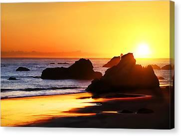 The Honeymoon Sunset  Canvas Print