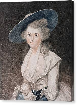 The Honourable Miss Bingham Canvas Print