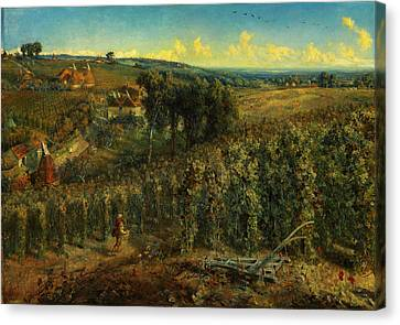 The Hop-gardens Of England Canvas Print by Celestial Images