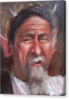 The Horn Salesman Canvas Print