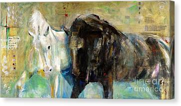 The Horse As Art Canvas Print by Frances Marino