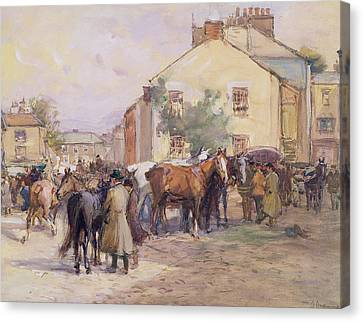 The Horse Fair  Canvas Print