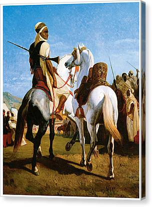 The Horse Of Gaada Canvas Print by Eugene ginain