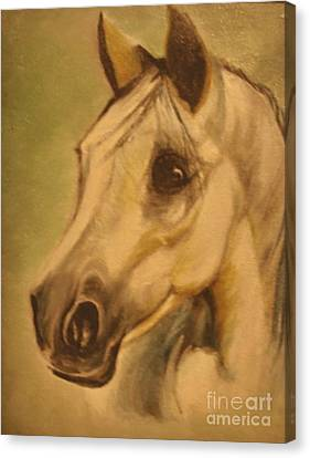 Canvas Print featuring the painting The Horse by Sorin Apostolescu