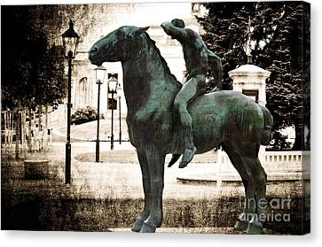 The Horseman Canvas Print by Mary Machare