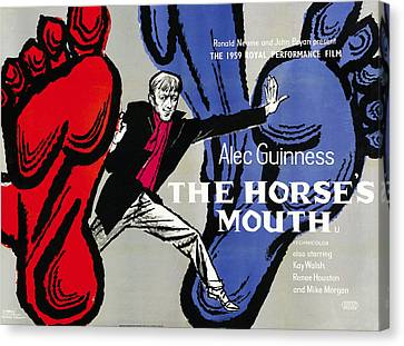 1950s Poster Art Canvas Print - The Horses Mouth, British Poster Art by Everett