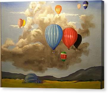 The Hot Air Balloon Canvas Print