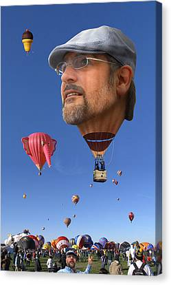 Balloon Festival Canvas Print - The Hot Air Surprise by Mike McGlothlen