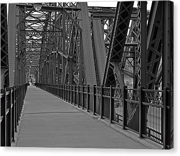 The Hot Metal Bridge In Pittsburgh Canvas Print