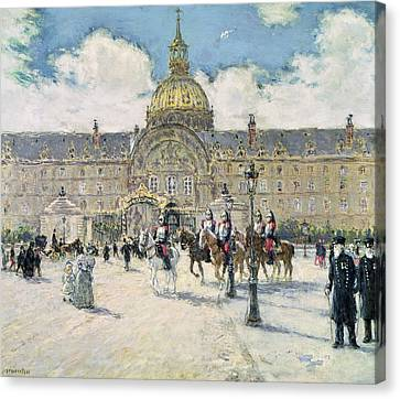The Hotel Des Invalides Canvas Print by Jean Francois Raffaelli