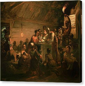 The Hour Of Emancipation, 1863 Oil On Canvas Canvas Print by William Tolman Carlton