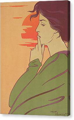 The Hour Of Silence Canvas Print by Henri Georges Jean Isidore Meunier