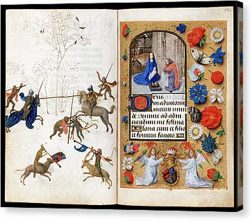 Nativity Canvas Print - The Hours Of Engelbert Of Nassau by Bodleian Museum/oxford University Images