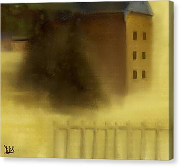 The House Beyond The Fence #c-2 Canvas Print