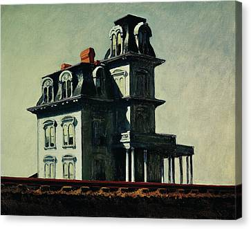 The White House Canvas Print - The House By The Railroad by Edward Hopper