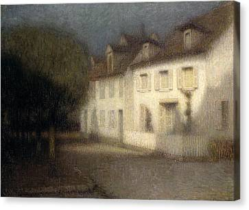 Ghostly Canvas Print - The House by Henri Eugene Augstin Le Sidaner