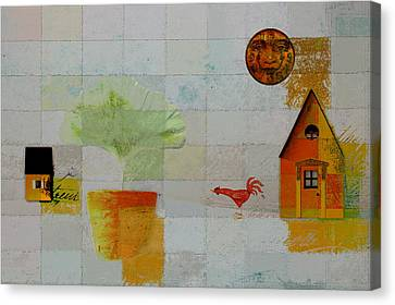 The House Next Door - J055061140-f1c142 Canvas Print