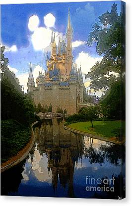 The House Of Cinderella Canvas Print by David Lee Thompson