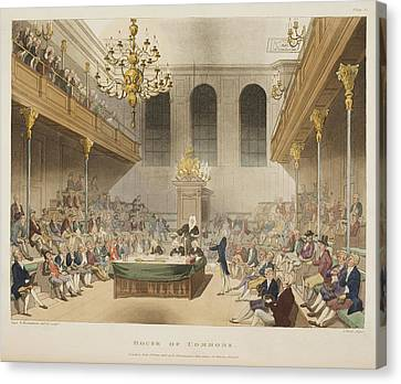 The House Of Commons Canvas Print by British Library