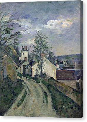 The House Of Doctor Gachet Canvas Print by Paul Cezanne