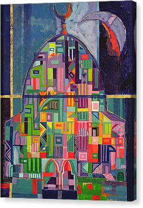 The House Of God, 1993-94 Acrylic & Gold Pigment On Canvas Canvas Print by Laila Shawa