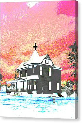 The House Of Haunted Hill Canvas Print by Jimi Bush