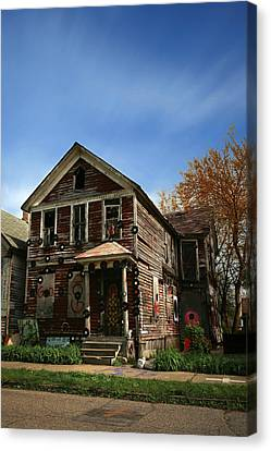 The House Of Soul At The Heidelberg Project - Detroit Michigan Canvas Print by Gordon Dean II