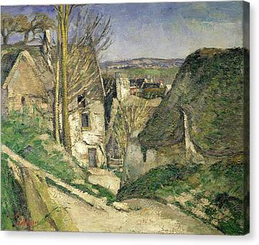 The House Of The Hanged Man, Auvers-sur-oise, 1873 Oil On Canvas For Details See 67878 & 67879 Canvas Print by Paul Cezanne
