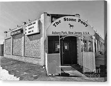 The House That Bruce Built - The Stone Pony Canvas Print by Lee Dos Santos