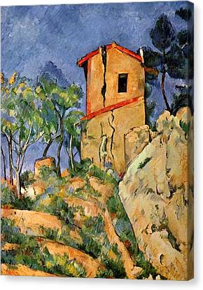 The House With Cracked Walls Canvas Print by Paul Cezanne
