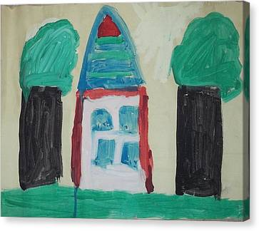 The House With No Door-age 5 Canvas Print by MIchael Kelly