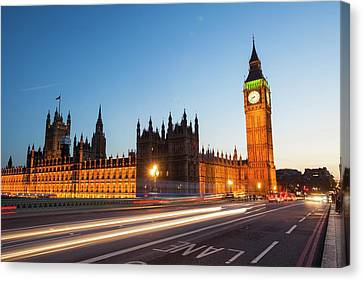 Democracy Canvas Print - The Houses Of Parliament And Big Ben by Ashley Cooper