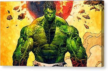 The Hulk Canvas Print by Florian Rodarte