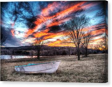 The Humble Boat Canvas Print by William Fields