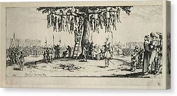 The Hung. Table 11. Illustration Canvas Print by Everett
