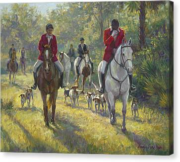 The Hunt Canvas Print by Laurie Hein