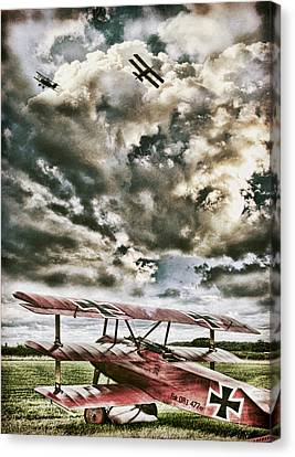 Ww1 Canvas Print - The Hunter by Peter Chilelli