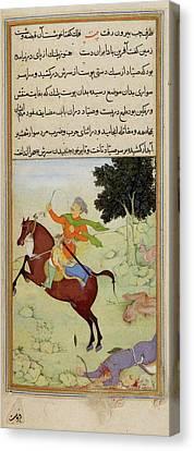 The Huntsman Riding Away Canvas Print