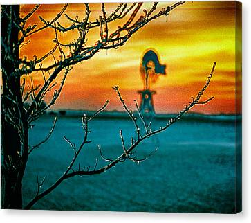 The Ice And The Windmill Canvas Print