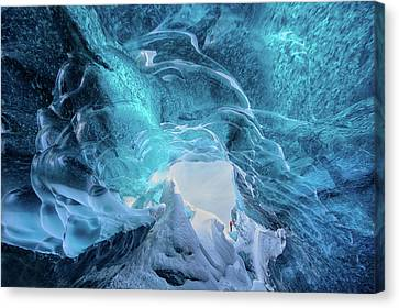 Ceiling Canvas Print - The Ice Cave by Trevor Cole