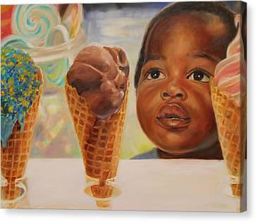 The Ice Cream Shop Canvas Print