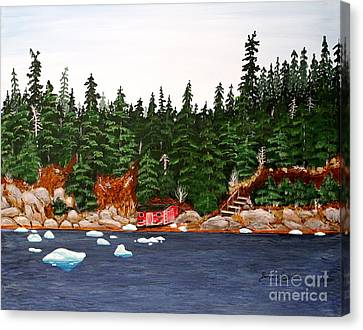 The Ice Took It Canvas Print by Barbara Griffin