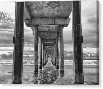 The Iconic Scripps Pier Canvas Print by Larry Marshall
