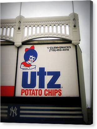 The Iconic Utz Sign Canvas Print by Aurelio Zucco