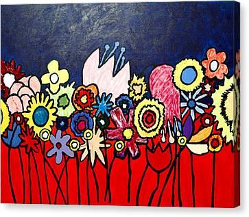 The Ideal Flower Garden Canvas Print