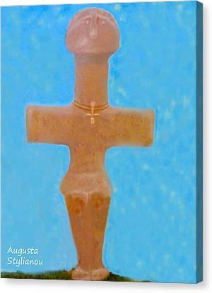 Larnaca Canvas Print - The Idol Of Pomos by Augusta Stylianou