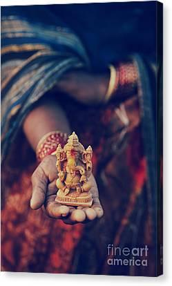 Ganapati Canvas Print - The Idol by Tim Gainey